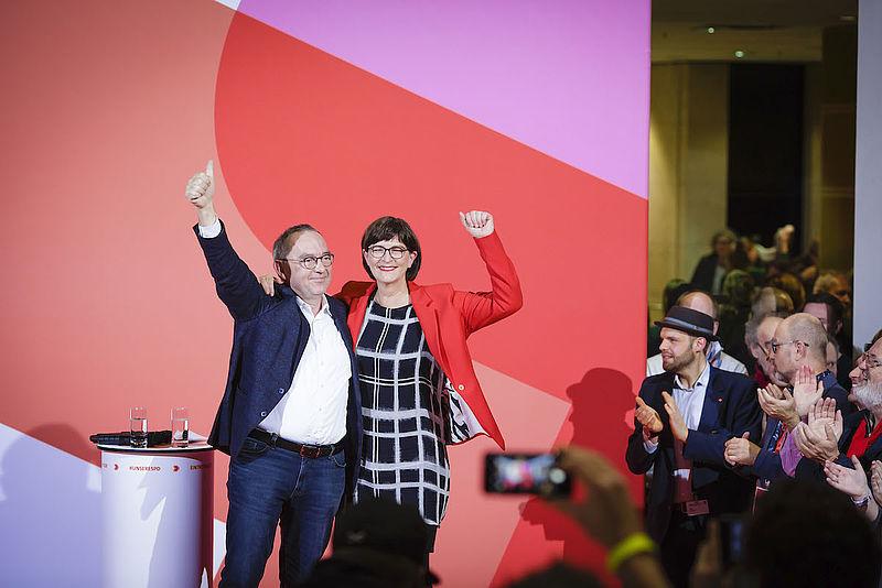 Die SPD Wermelskirchen begrüßt das Ergebnis zur Wahl des neuen Spitzenduos