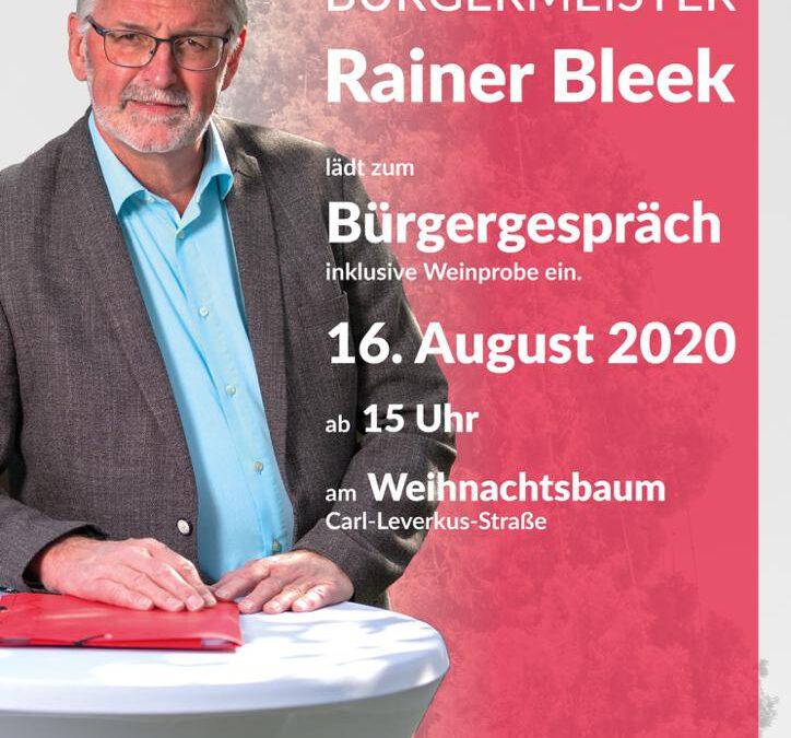 Einladung zum Bürgergespräch mit Rainer Bleek