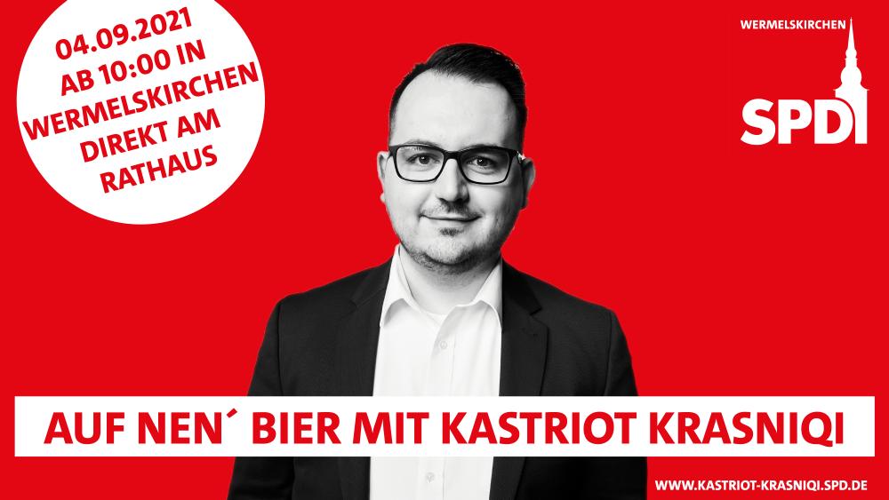 Bundestagskandidat Kastriot Krasniqi am 04.09.2021 in Wermelskirchen